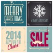 Christmas Cards Collection — Imagen vectorial
