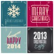 Christmas Greeting Cards Collection — Vettoriale Stock