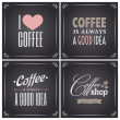 Chalkboard Coffee Collection — Imagen vectorial
