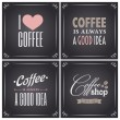 Chalkboard Coffee Collection — Vektorgrafik