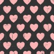 Chalkboard Hearts Pattern — Stock Vector