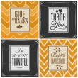Thanksgiving Cards Collection — Stockvektor