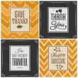 Thanksgiving Cards Collection — Stock vektor