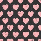 Chalkboard Hearts Pattern — Stockvektor