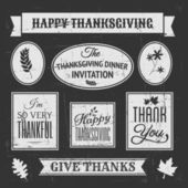Chalkboard Thanksgiving Design Elements — Stock Vector