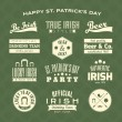 St. Patrick's Day Design Elements Collection — Stock Vector #40456495