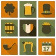 Stock Vector: St. Patrick's Day Icons Collection