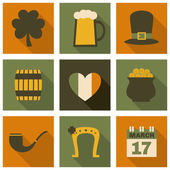 St. Patrick's Day Icons Collection — Stock Vector