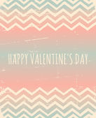 Chevron Pattern Valentine's Day Design — Stockvektor