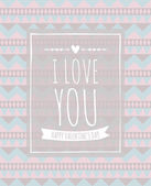 Aztec Pattern Valentine's Day Design — Stock Vector