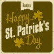 Typographic St. Patrick's Day Card — Stock Vector