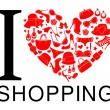 I Love Shopping — Stock Vector #42561075