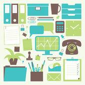 Conjunto de escritório — Vetor de Stock