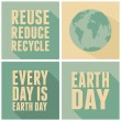 Earth Day Cards Collection — Stock Vector #43136973