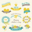 florales Design Elements-Auflistung — Stockvektor