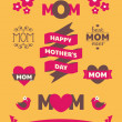 Mother's Day Design Elements — Vettoriale Stock