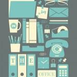 Retro Office Icons — Stock Vector #43372547