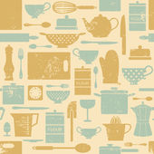 Vintage Kitchen Pattern — Stock Vector