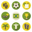 Brazil Icons Collection — Stock Vector #44324369