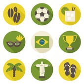 Brazil Icons Collection — Stock Vector