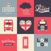 London Vintage Cards Collection — Stock Vector