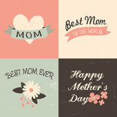 Mother's Day Greeting Cards — Stock Vector