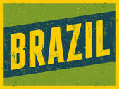 Retro Brazil Postcard — Stock Vector