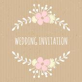 Karton papírový svatební design — Stock vektor