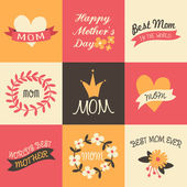 Mother's Day Greeting Cards Collection — Stock Vector