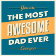 Father's Day Greeting Card — Stockvektor  #47245885