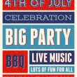 US Independence Day Party Flyer — Vetorial Stock  #47247349