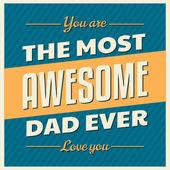 Father's Day Greeting Card — Wektor stockowy