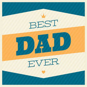 Father's Day Greeting Card — Stock Vector