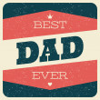 Father's Day Greeting Card — Stockvektor  #47260593