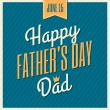 Father's Day Greeting Card — Stockvektor  #47260603