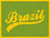 Retro Brazil Poster — Stock Vector