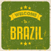 Retro Brazil Poster — Stock Vector
