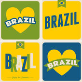 Brazil Cards Collection — Stock Vector