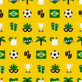 Seamless Brazil Background — Stock Vector