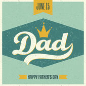 Father's Day Greeting Card — Stok Vektör
