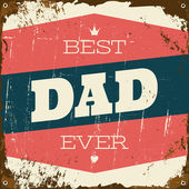 Father's Day Greeting Card — Vetorial Stock