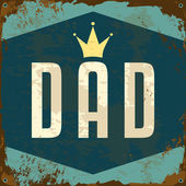 Father's Day Metal Sign — Stock Vector