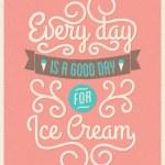Retro Typography Ice Cream Poster — Stock Vector #47885861
