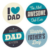 Father's Day Stickers Collection — Stock Vector