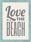 Love the Beach Poster — Stock Vector