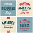 US Independence Day Cards Collection — Stock Vector #48925927
