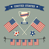 US Soccer Icons Collection — Stock Vector