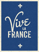 Long Live France Card Design — Stock Vector