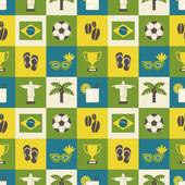 Seamless Brazil Background — Stock Vector