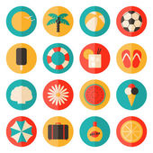 Summer Icons Collection — Stock Vector
